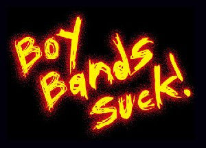 BOY BANDS SUCK Sticker