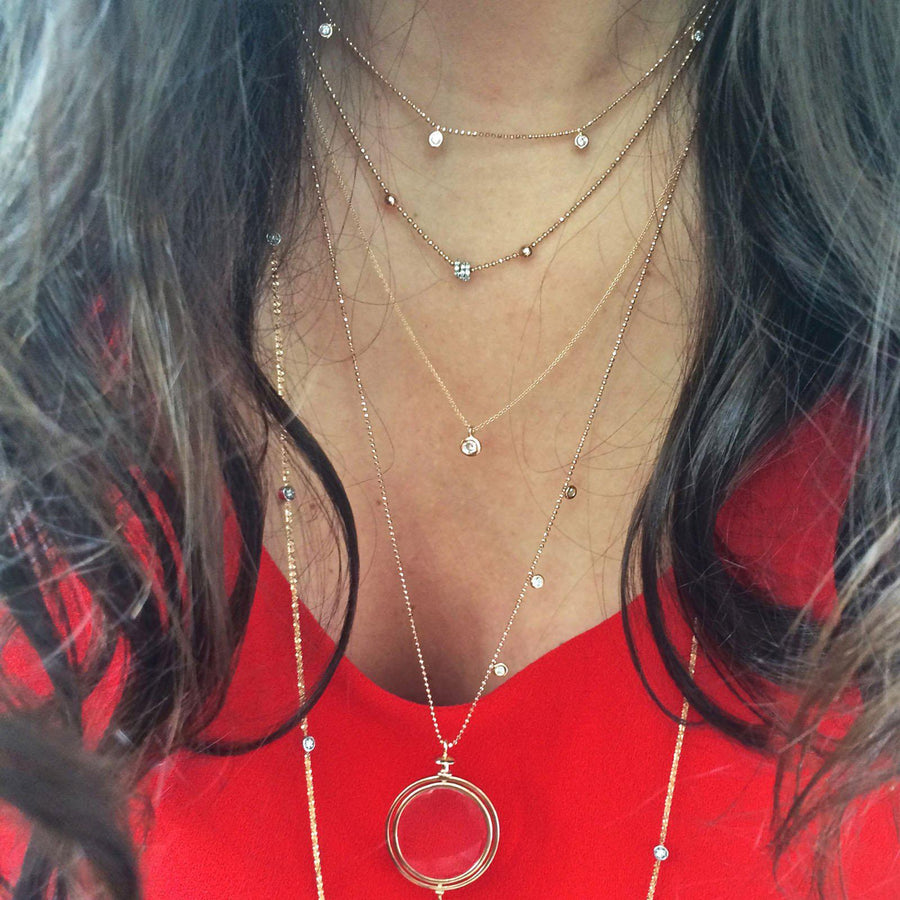 Solitaire Chain Necklace