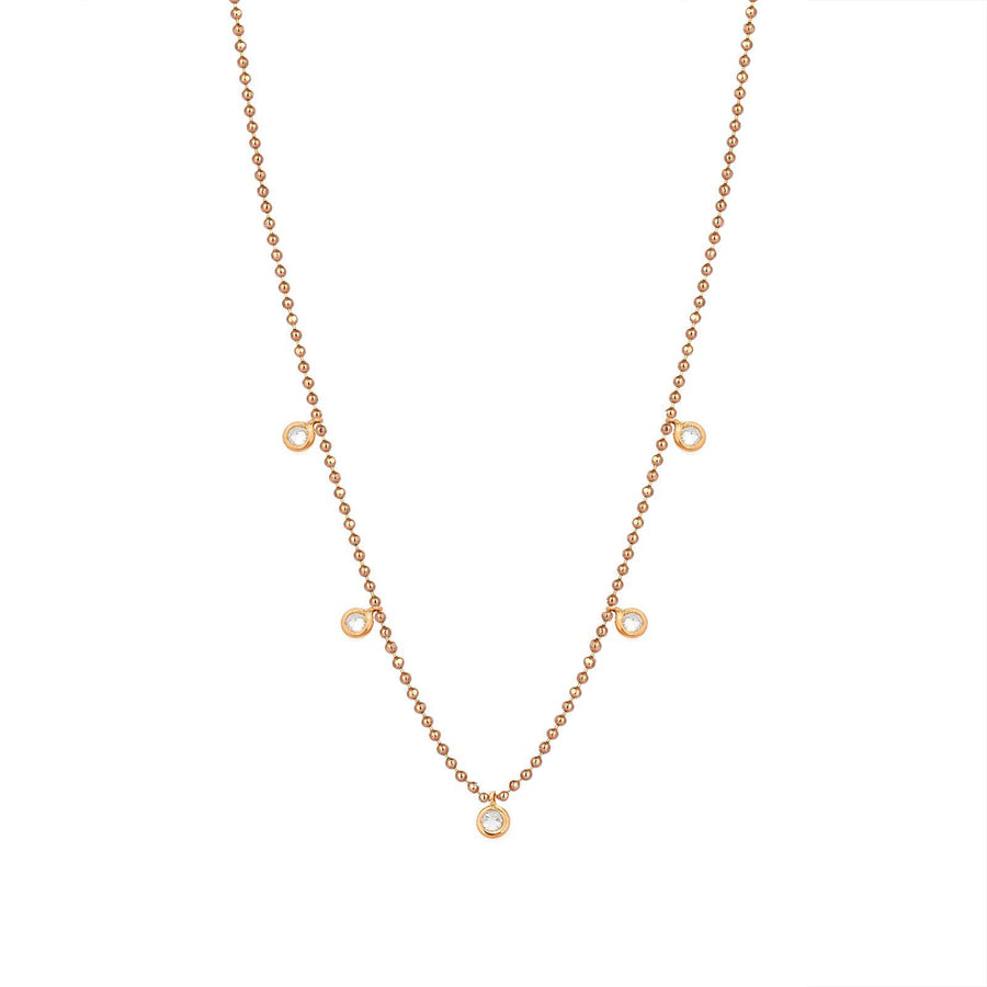 5 Solitaires Necklace