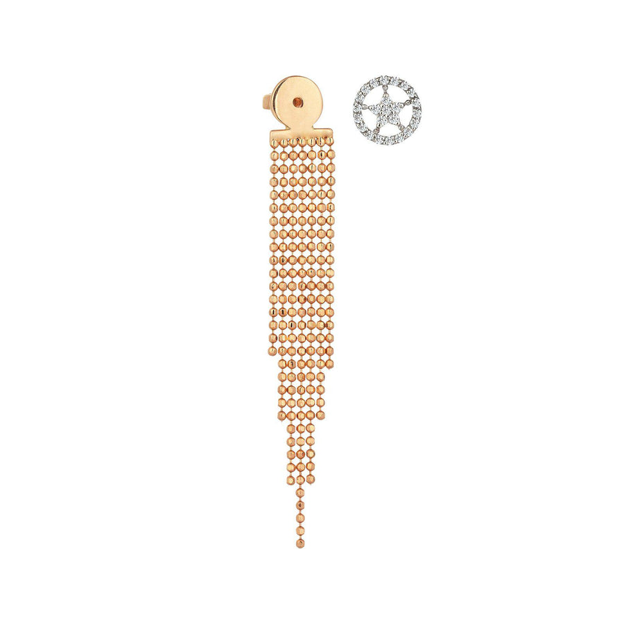 Sheriff Star Stud with Tassel Back