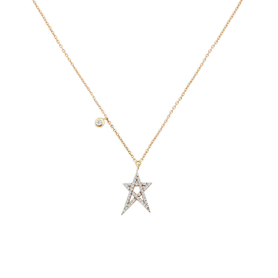 Doodle Star Solitaire Necklace