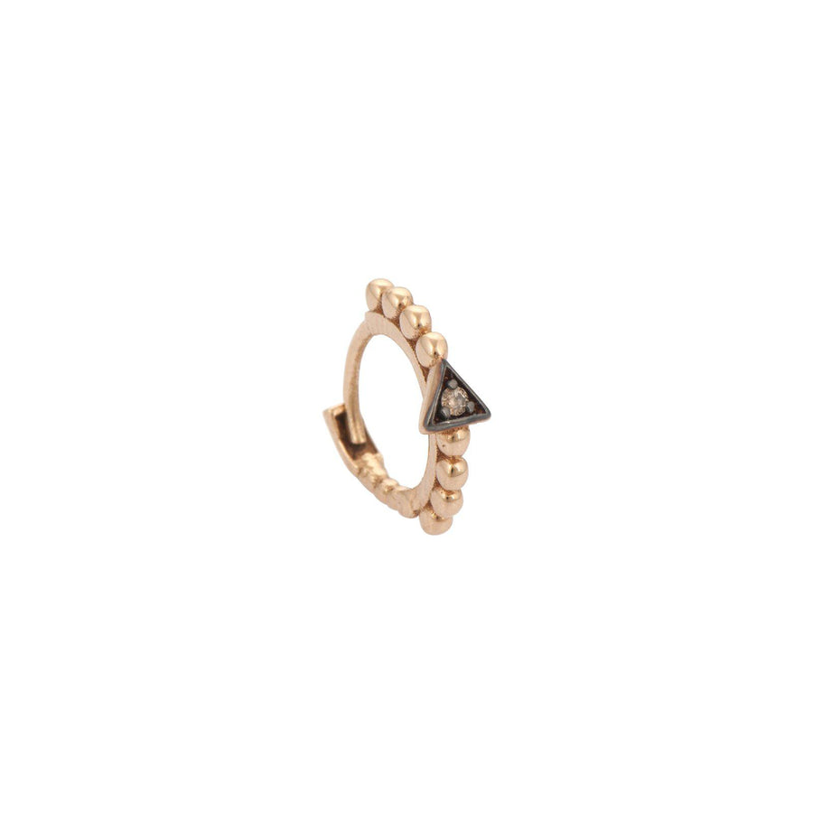 Ball Beaded Triangle Tiny Hoop Earring