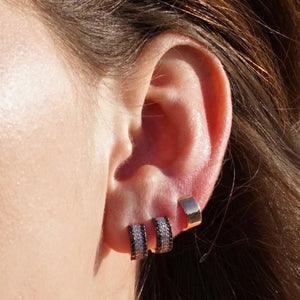Tiny Thick Hoop Earring