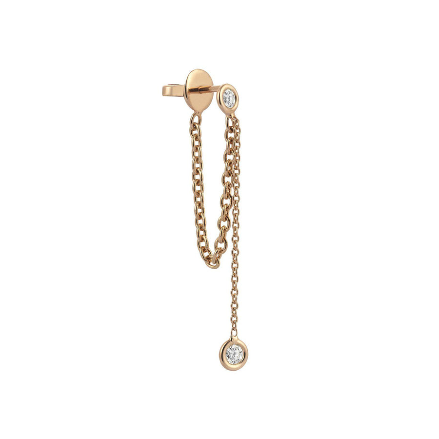 Solitiare Chainy Earring