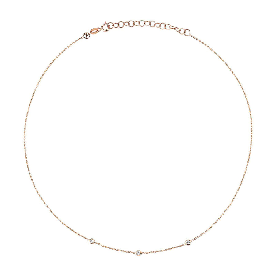 Triple Solitaire Chain Choker