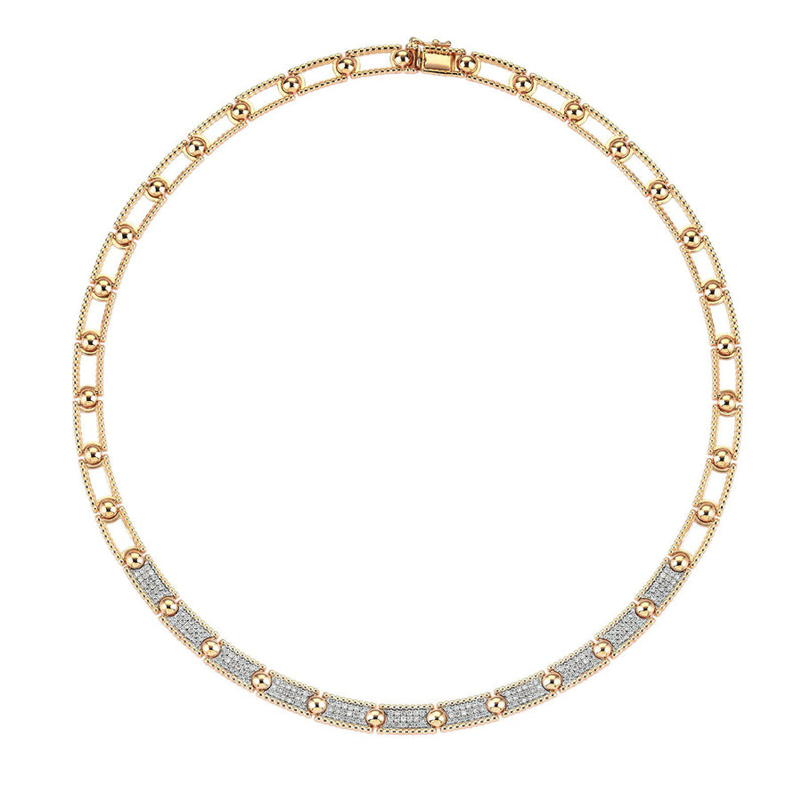 Lumiere 3 Rows Ball Necklace