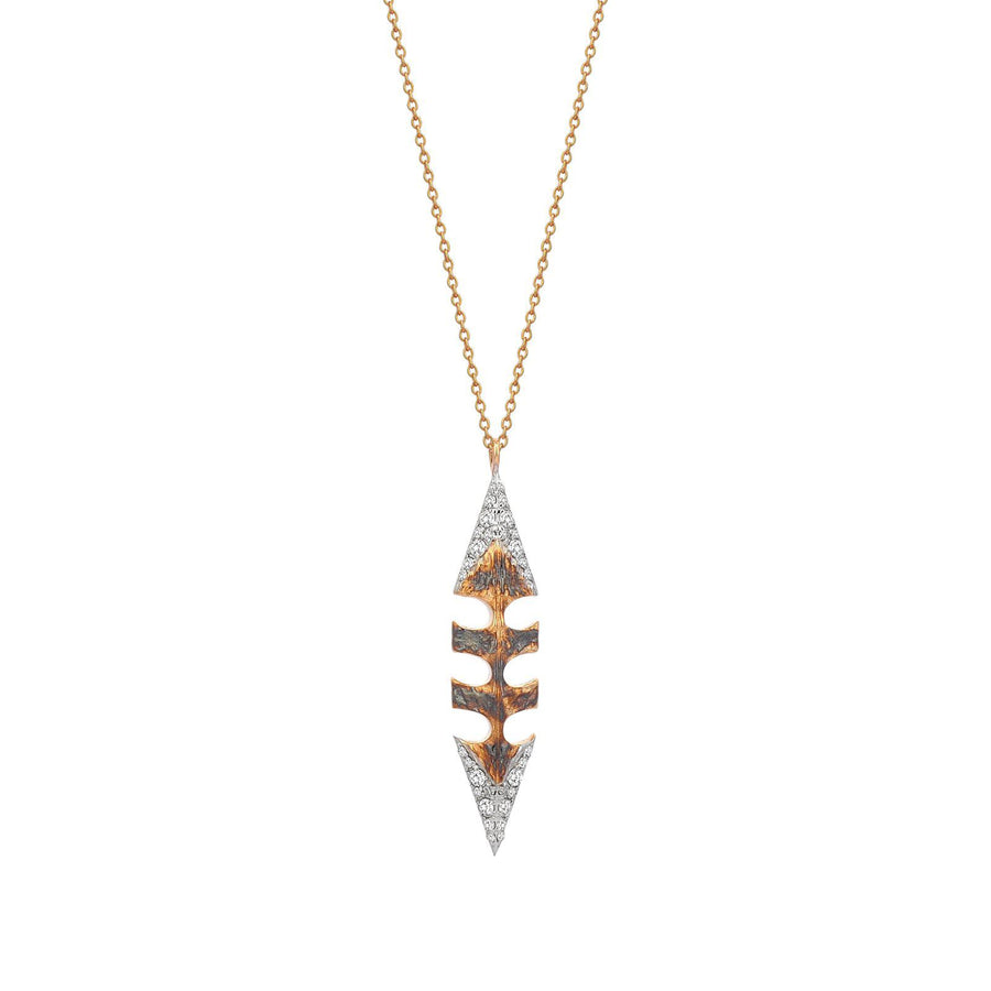Two-Sided Arrow Tip Necklace