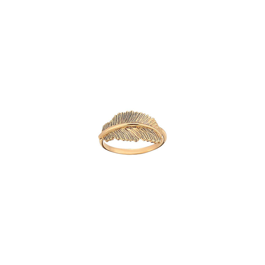 Small Thick Feather Ring
