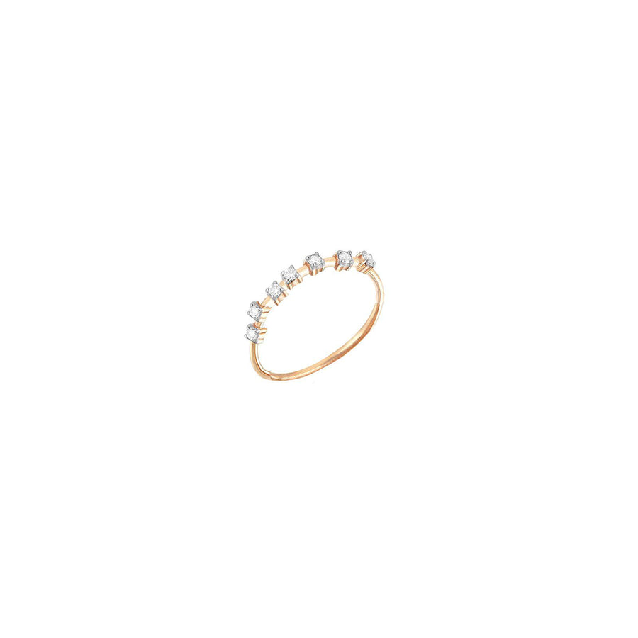 Lumiere Half Eternity Band Pinky Ring