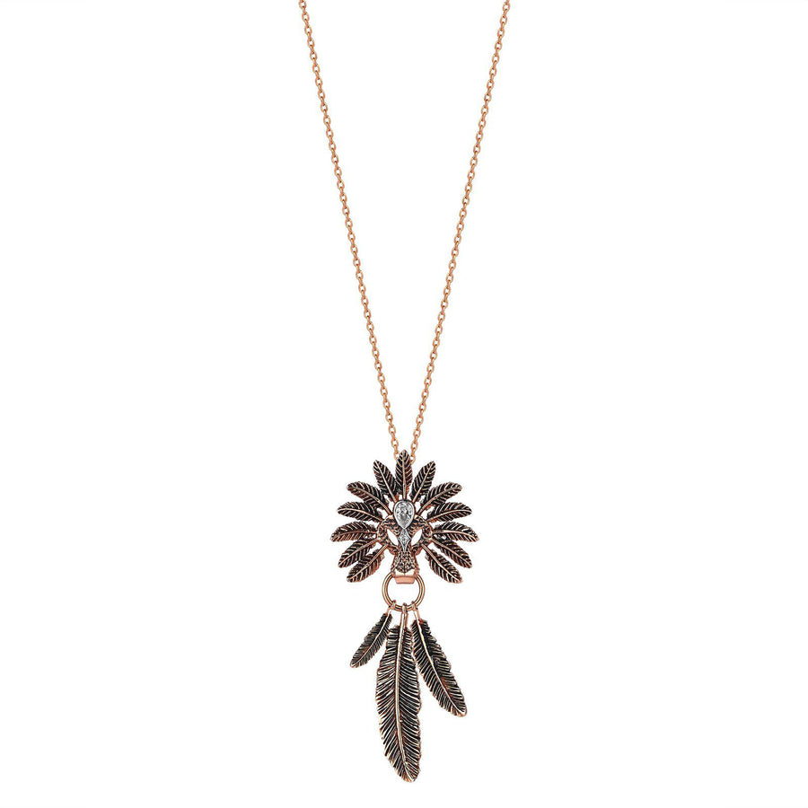 Small Feather Lion Necklace