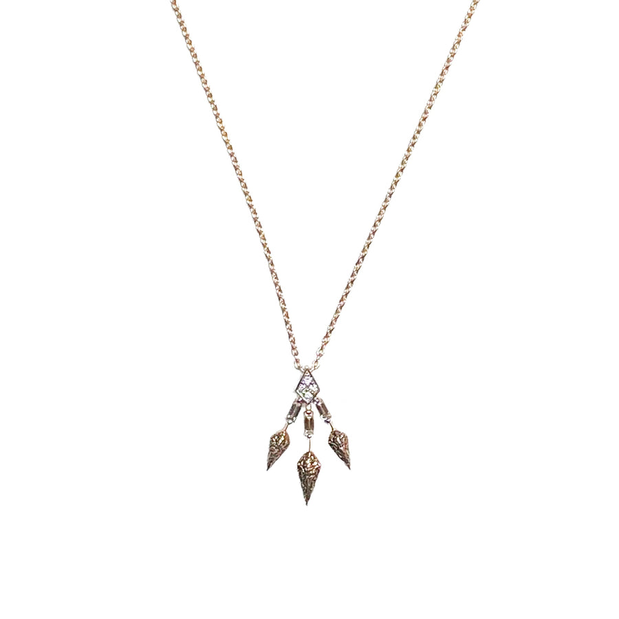 Spear Trio Slim Chain Necklace