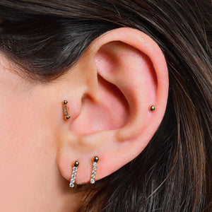 Two Balls Bar Piercing