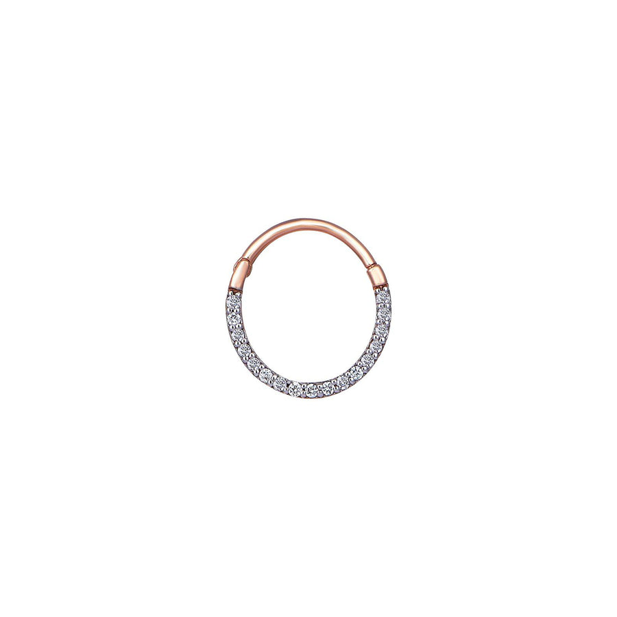 Diamond Hoop Piercing