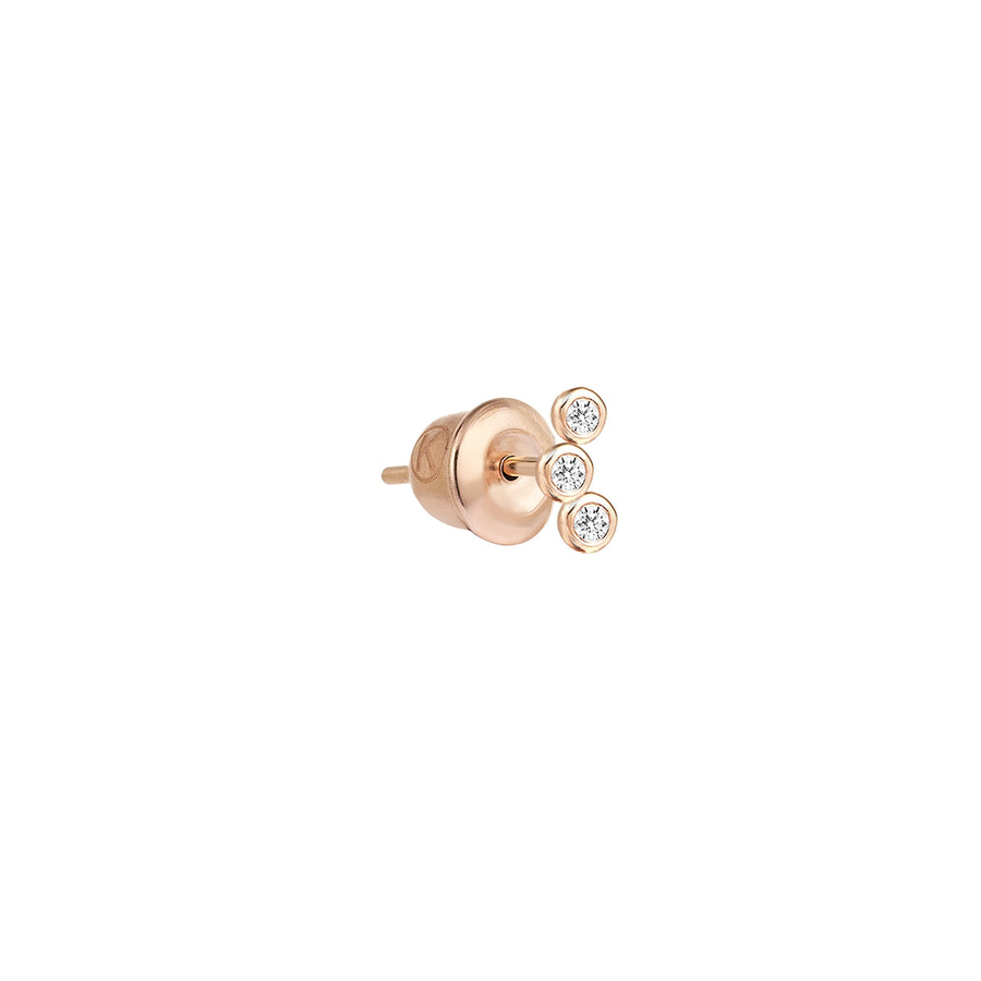 4 Solitaires Bubble Stud Earring