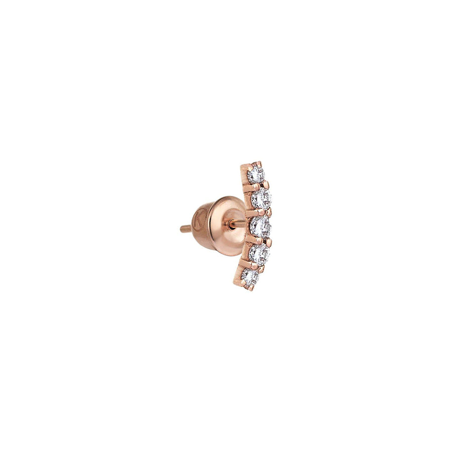 5 Solitaires Arc Earring