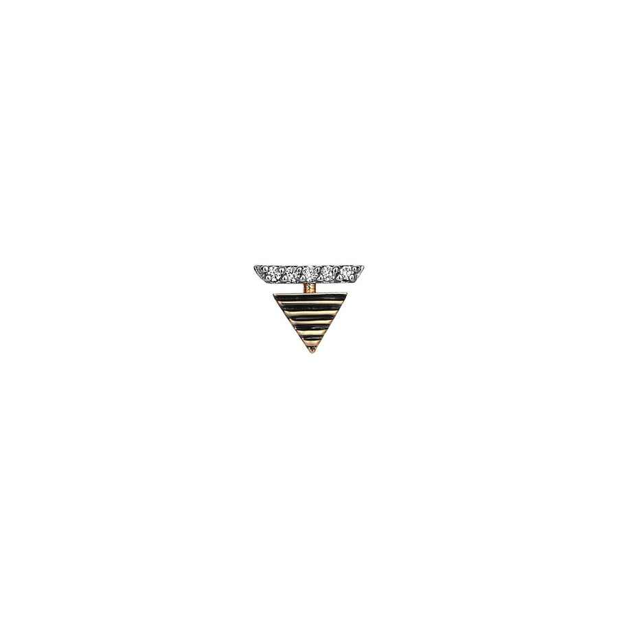 Diamond Pyramid Earring
