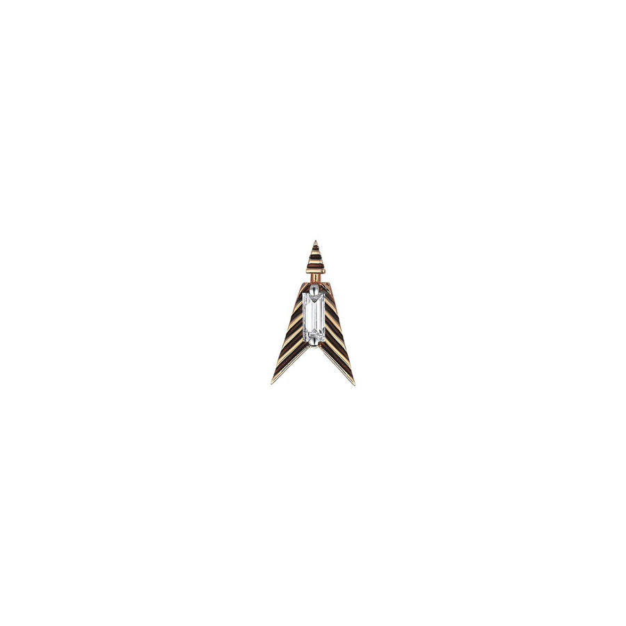 Center baguette Earring