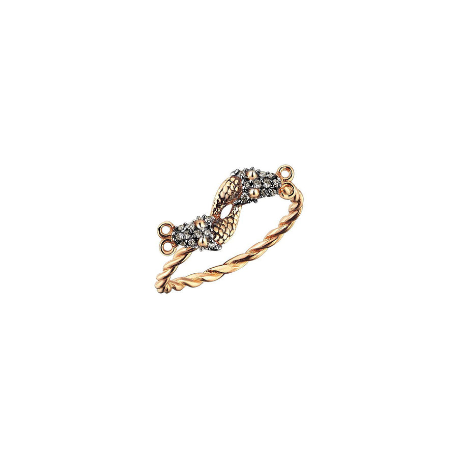 Serpent Twins Ring