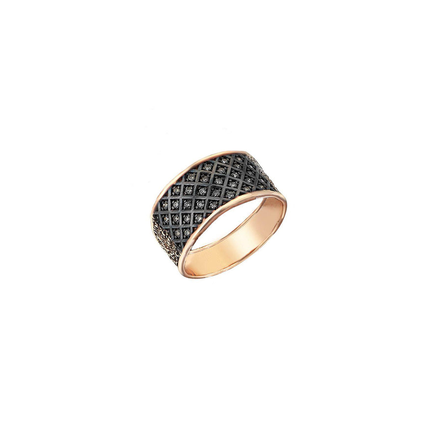 Fishnet Pave Ring
