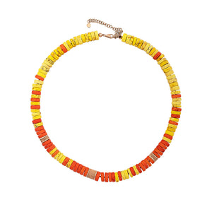 Red, Orange and Yellow Howlite Turquoise