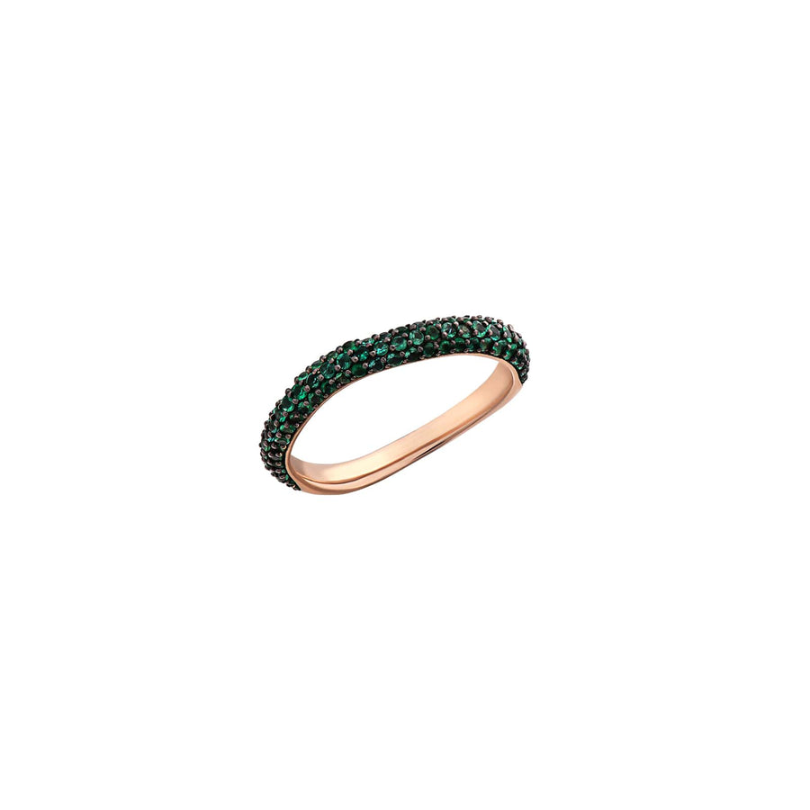 Amorph Pavé Eternity Band Pinky Ring