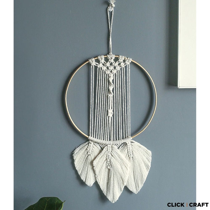 Macrame Kit  - Easy - The Circle and 3 Leaves