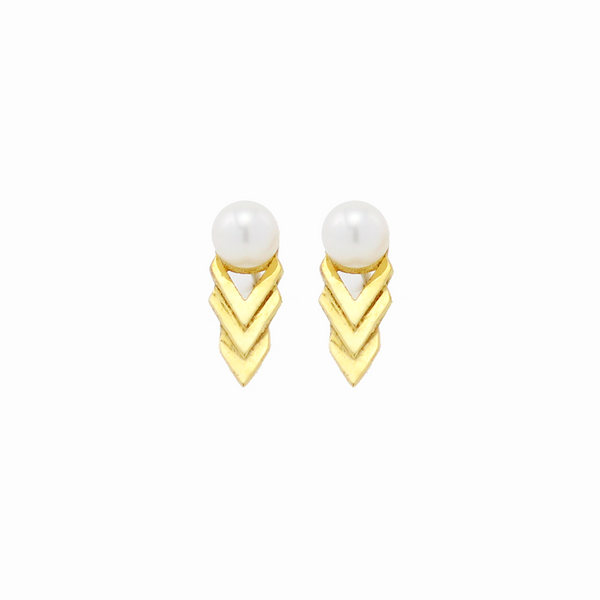 Chevron Pearl Earrings