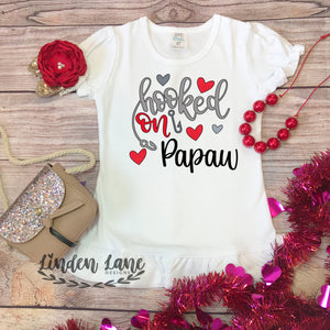 Girls Hooked On Valentine's Day Shirt