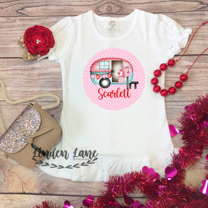 Girl's Valentines Day Camper