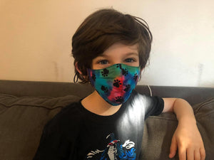 Rainbow Dogs - Children's Mask contour shape