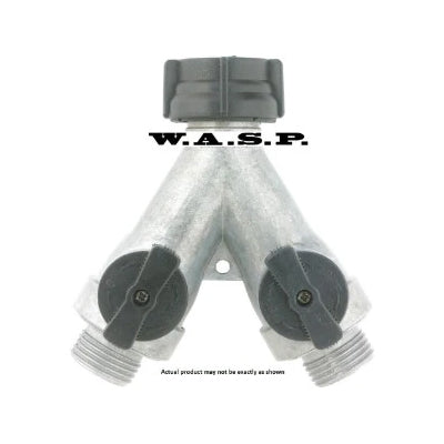 WASP Garden Hose Thread Y with Dual Shut-Off