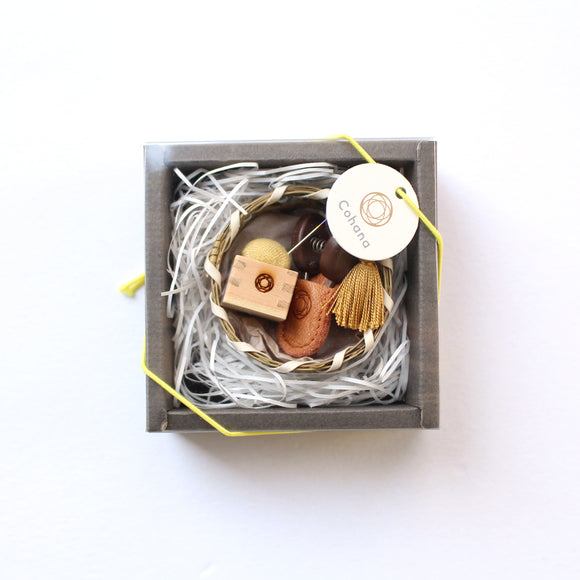 Mini Scissors & Pin Cushion Gift Set - Yellow