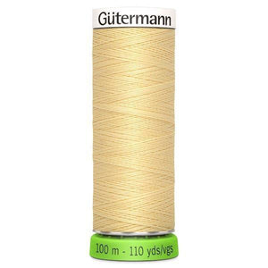 Gütermann rPET Sew-all Thread (100% recycled) #325 Creamy Yellow