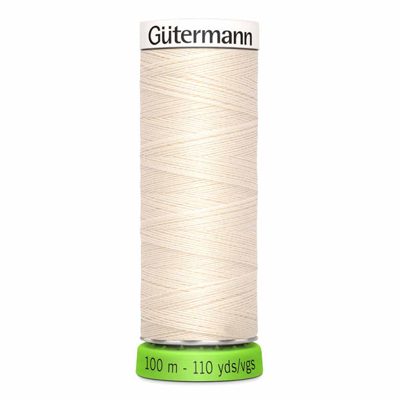 Gütermann rPET Sew-all Thread (100% recycled) #802 Eggshell