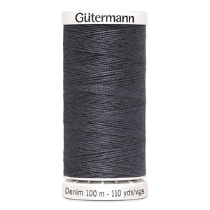 Gütermann Denim Thread #9455 Grey