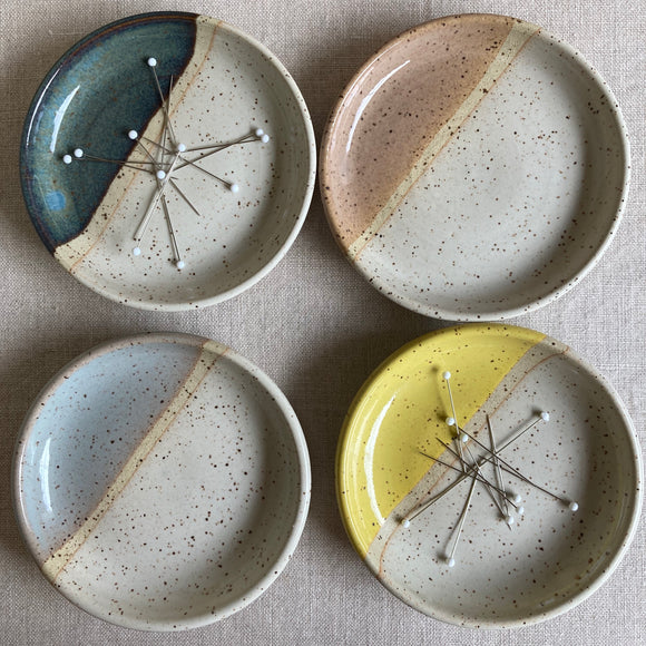 Handmade Ceramic Magnetic Pin Dish - Various Colors