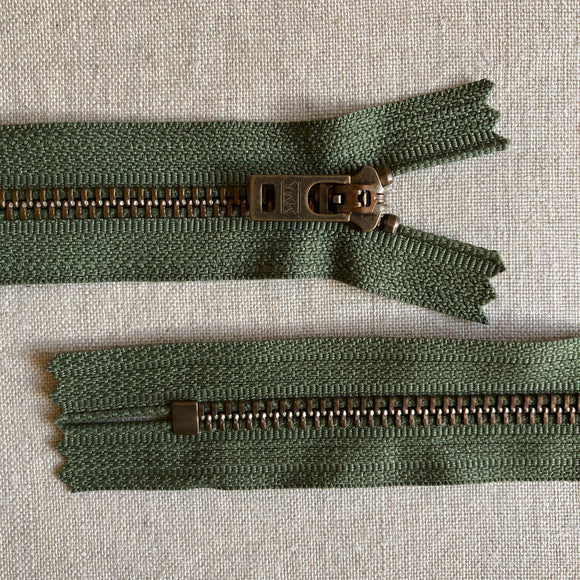 YKK Antique Brass Jean Zipper - 7