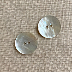 "7/8"" Natural Shell Buttons x 2"