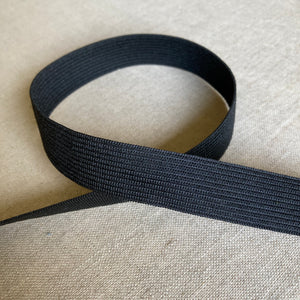 Knit Elastic: Black - Various Widths