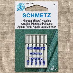 Schmetz Microtex Needles - 5 pcs - Assorted Sizes
