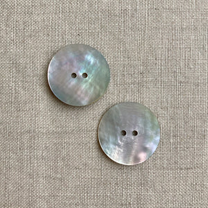 "1"" Natural Shell Buttons x 2"