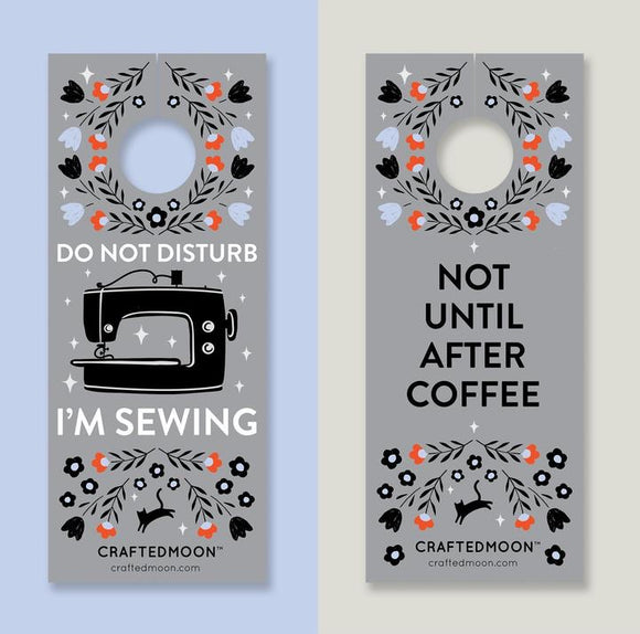 Sewing Room & Coffee Door Hangers by Crafted Moon