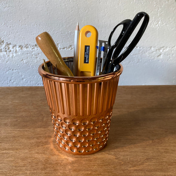 Thimble Desk Organizer in Rose Gold