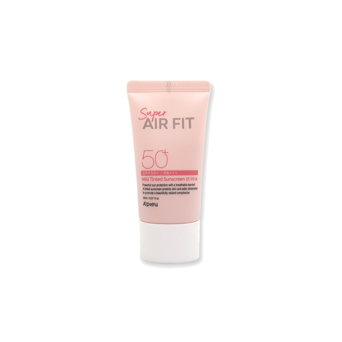 A'PIEU Super Air Fit Mild Tinted Sunscreen 01 PINK SPF 50+ PA+++ 20ml - Formula Bright