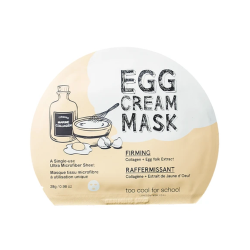 TOO COOL FOR SCHOOL Egg Cream Mask Firming 1pc - Formula Bright