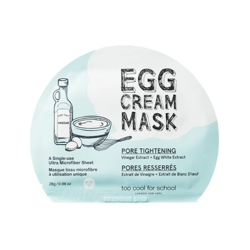 TOO COOL FOR SCHOOL Egg Cream Mask Pore Tightening 1pc - Formula Bright