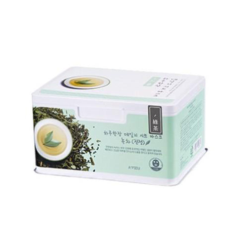 A'PIEU Daily Sheet Mask (Green Tea/Soothing) 33pcs - Formula Bright