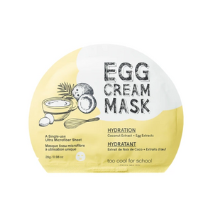 TOO COOL FOR SCHOOL Egg Cream Mask Hydration 1pc - Formula Bright