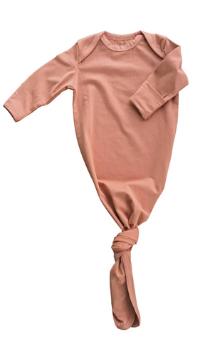 Coral Haze Baby Gown in a Canvas Bag