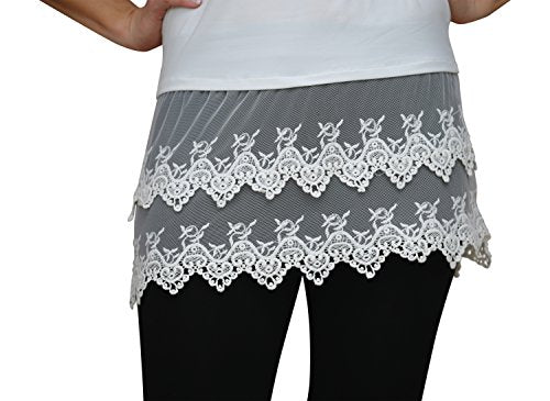 Cream Lace Top Extender